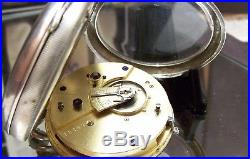 Antique 1906 Finchley Sub Division Police Retirement Solid Silver Watch & Albert