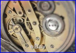 Antique 800 solid silver GURZELEN Remontoir pocket watch