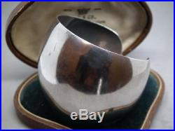 Antique Art Deco Stunning Solid Sterling Silver Machine Age Cuff Bracelet Bangle