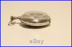 Antique Beautiful Small Ladies Solid Silver France Pocket Watch With Two Birds