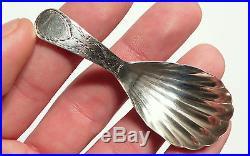 Antique Georgian Solid Silver Tea Caddy Spoon George Wintle London 1801