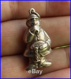 Antique Hallmarked Solid Silver Charm THE POLICEMAN c. 1910