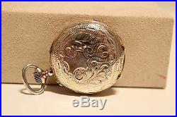 Antique Hand Carved Small Ladies Solid Silver Swiss Pocket Watchrobertgeneve