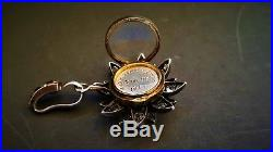 Antique Ladies Victorian Solid Silver French Paste Crystal Locket Pendant