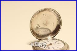 Antique Made For Imperial Russia Market Ladies Solid Silver Pocket Watch Rio