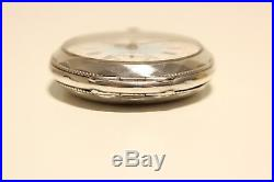 Antique Rare Men's Solid Silver 0.800 France Pocket Watch With Beautiful Dial