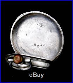 Antique Solid Silver Ladies Pocket Watch. France, Circa 1890