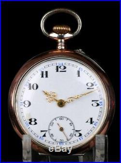Antique Solid-Silver Pocket Watch. Cylinder-Type. Switzerland, Circa 1900