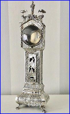 Antique Solid silver Dutch pocket watch stand