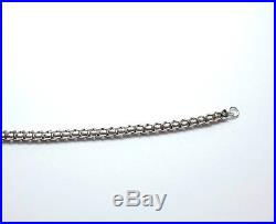 Antique Victorian 925 Sterling Silver Fancy Link Solid Necklace Chain 24.8g 17