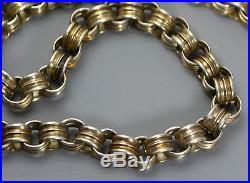 Antique Victorian SOLID SILVER Belcher Collar BOOK CHAIN Necklace with Dog Clip