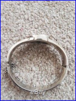 Antique rare russian quality solid silver enamel ladies bracelet 24. Grams