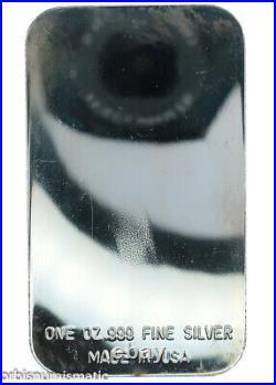 Aquarius Zodiac Sign 1 Oz 999 Solid Silver Proof Bar Rare Vintage USA Made Z413