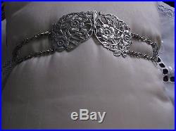 Beautiful Solid Silver Art Nouveau Buckle & Belt 1902 London