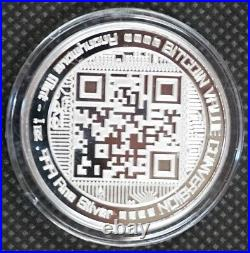 BITCOIN VALUE CONVERSION 1 oz. 999 Solid Silver Proof Round Capsuled Coin With COA