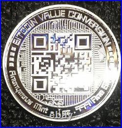 BITCOIN VALUE CONVERSION 1 oz. 999 Solid Silver Proof Round Colorized Coin COA