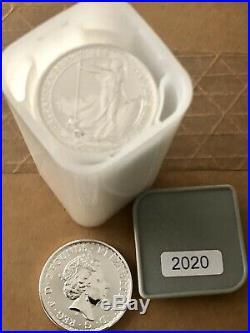 BRITANNIA FULL TUBE 2016 MINT CONDITION 25 X 1oz. 999 SOLID SILVER BULLION COIN