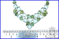Bargain! Petite Russian Chrysoprase Blue Quartz 925 Solid Silver Necklace