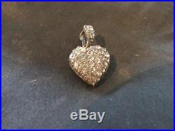 Beautiful Georgian Solid Silver & Diamond Paste Heart Pendant