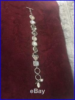 Beautiful SILPADA EXEMPLAR Multi Stone Link Bracelet SOLID STERLING SILVER B2790