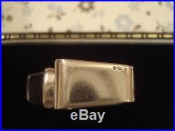 Beautiful Vintage 1970's Scandinavian ModernistBlue Topaz Gem, Solid Silver Ring