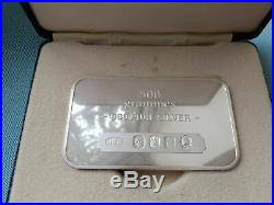 Boxed Johnson Matthey Mallory 500g Half Kilo Solid Silver Bar 999 QE II Jubilee