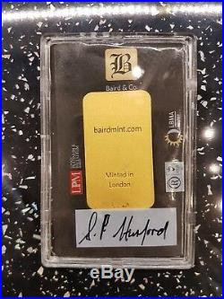 Brand New 2 X 50 Grams Baird & Co Solid Gold Bullion Bar's