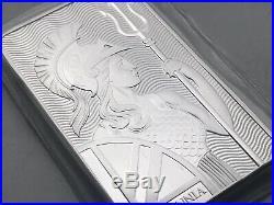 Britannia 10 Oz 999 Solid Silver Bullion Bar Omp Beautiful Majestic Design Lot B