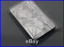Britannia 10 Oz X 2 999 Solid Silver Bullion Bar Beautiful Majestic Design Lot B