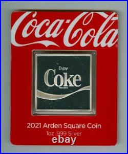 COCA-COLA FIJI 2021 $1 Arden Square Coin 1 OZ. 999 SILVER GEM PROOF SOLD OUT