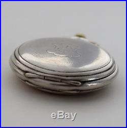 COLLECTABLE OLD LONGINES POCKET WATCH SOLID SILVER HUNTER CASE working perfectly