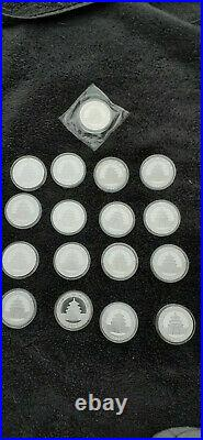 Chinese Pandas 10 Ten Yuan 2004 to 2020 Solid. 999 Silver 1oz Coins 17 Total