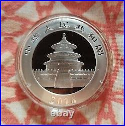 Chinese silver panda coins 2016.999 Solid Silver x 15