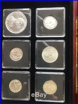 Coin set solid silver. Six Genuine Silver Coins From The Era Of WWI. London Mint