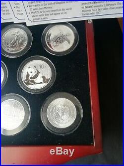 Danbury 8 Brilliant Uncirculated 1oz World Solid Silver Coins Bullion