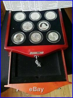 Danbury 9 Brilliant Uncirculated 1oz World Solid Silver Coins Bullion