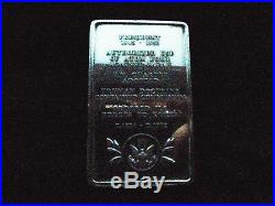 Danbury Mint Solid Sterling Silver First Edition Presidential Ingots Collection
