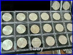 Dealer Lot of 20 Mexico 1oz Silver Libertads in Square Capsules 1983 1984 1985