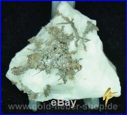 Dream Silber-Stufe on Calcit-Matrix 75 Gramm, Solid, Nugget, Present 72