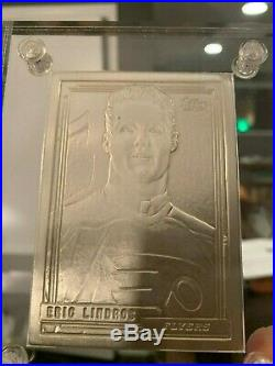 ERIC LINDROS Highland Mint solid silver card
