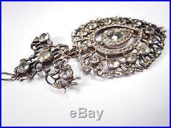 Exquisite Georgian Solid Silver Paste Pendant