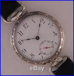 Early ARGUS'1900 ALL ORIGINAL Gent's Swiss Solid Silver Wrist Watch A+ Serviced