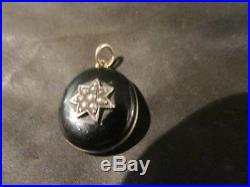 Edwardian Quality Solid Silver, Enamel & Seed Pearl Locket