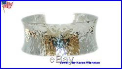 Elegant Rich 1 Wide SOLID 999 Fine Silver Cuff Bracelet
