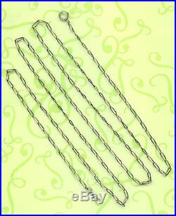 Extra Long Vintage Solid Silver Pocket Watch Chain 148 MM