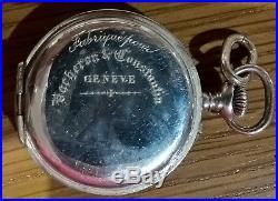 Fabrique pour VACHERON ET CONSTANTIN Pocket Watch 1920s ART DECO SOLID SILVER
