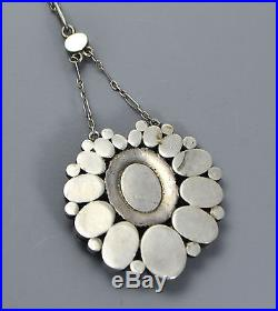 Fine Art Nouveau SOLID OPAL & Foil Backed RUBY Lavalier NECKLACE DIVORCE SALE