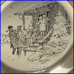 Franklin Mint 1975 Rockwell 6.4oz Solid Sterling Silver Christmas Plate Home