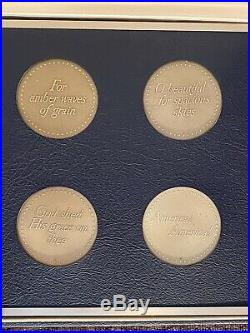 Franklin Mint America the Beautiful Medallic Art Solid Sterling Silver Coins