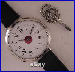 Fully Serviced BREVET A VIRIAT 1870 French Solid SILVER Wrist Watch Perfect